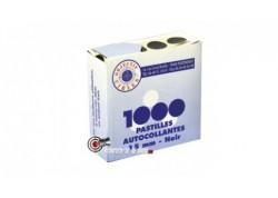 Lot de 1000 pastilles noires autocollantes pour cibles - 15 mm