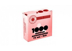 Lot de 1000 pastilles autocollantes pour cibles - 19 mm