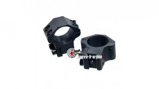 Colliers de montage haut pour lunette de 25.4 mm - 11 mm