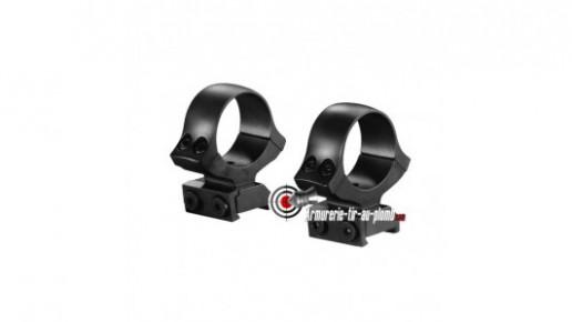 Colliers de montage fixe pour carabine CZ 550 et CZ 555 pour lunette de un pouce
