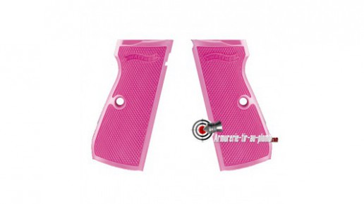 Plaquettes synthétiques roses pour Walther PPK