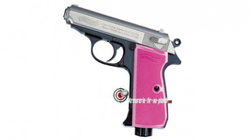 Walther PPK Pink Maiden - Culasse nickel