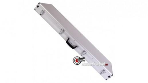 Mallette aluminium pour deux armes longues - 123 cm