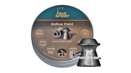 Plombs H&N Hollow Point - 4.5 mm