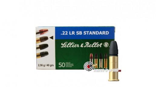 Cartouches Sellier & Bellot .22 LR - Lot de 50 boites