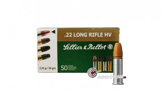 Cartouches Sellier & Bellot .22 LR HV