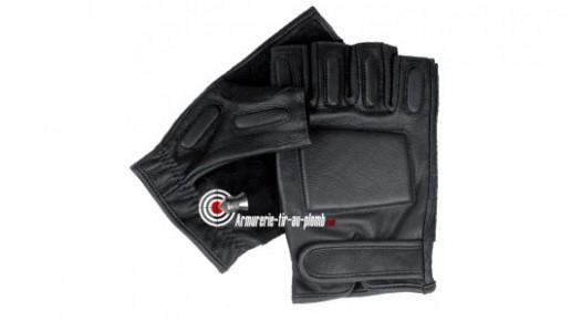 Mitaines en cuir noir - taille XL