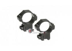 Colliers de montage bas pour lunette de 30 mm - 11 mm