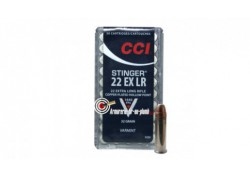 Cartouches CCI .22 Extra LR - Stinger Copper-plated Hollow Point