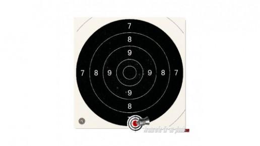Lot de 100 centres de cibles cartons - 21 x 21 cm