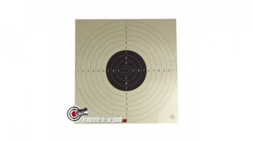 Cible carton C50 - 55 x 55 cm