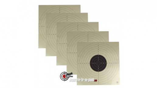 Lot de 5 cibles carton C50 - 55 x 55 cm