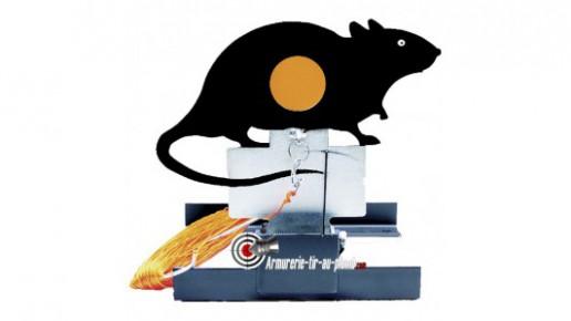 Cible de tir métallique basculante - Rat