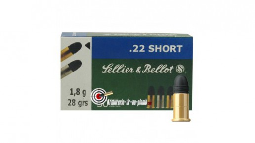 Cartouches Sellier & Bellot .22 LR Short