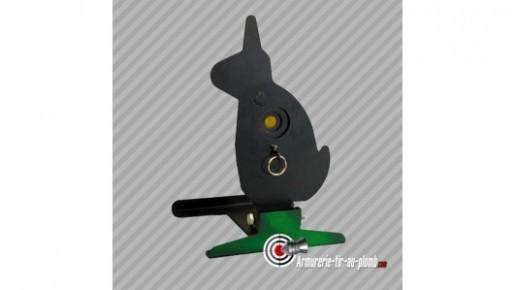 Cible de tir métallique basculante - Lapin