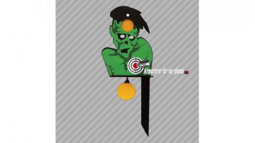 Cible métallique - tête de zombie