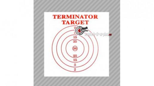 Cible en mousse et tissu Terminator target 30x30cm