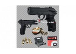 Pack Gamo Pistolet PT85 3.98J avec cibles, plombs et 3 CO2