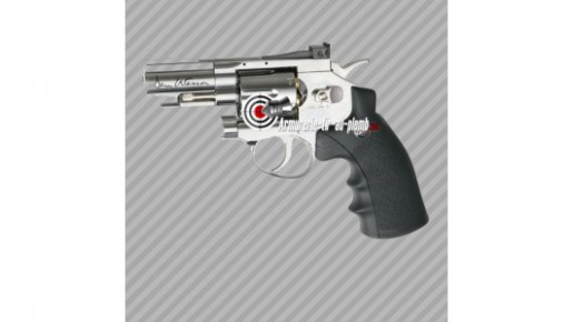 "Dan Wesson 2.5"" chromé à plombs"