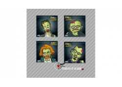 Lot de 100 cibles Zombie nation carton 14x14