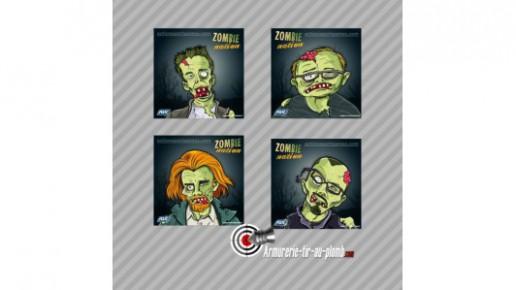 Lot de 100 cibles Zombie nation carton 14x14