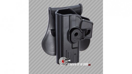 Holster Glock series polymère pour gaucher