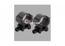 Colliers de montage haut aluminium Bauer 30mm pour rail 22mm