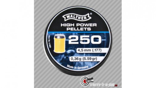Boite de 250 plombs Walther High power 4.5mm