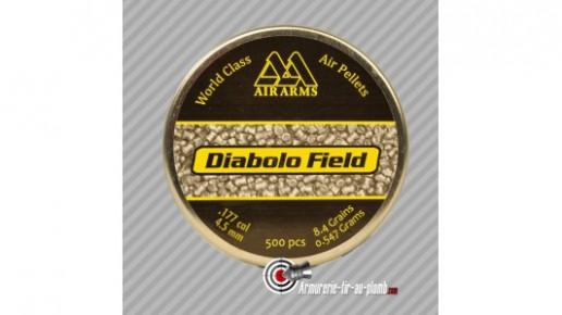 500 plombs AirArms Field Diabolos 8.4grains - 4.5mm
