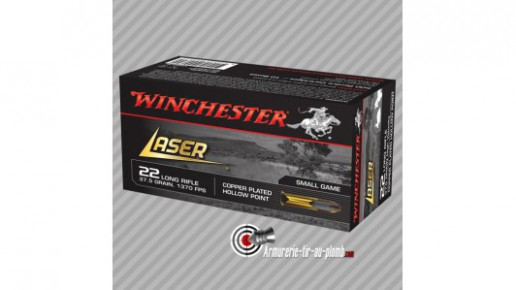 50 cartouches Winchester Laser 22LR 37.5gr HP