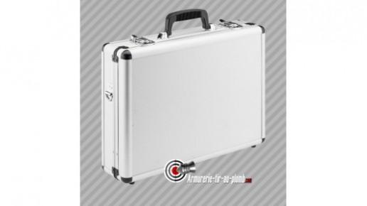Mallette aluminium avec clés pour 2 armes 46x35x11 cm