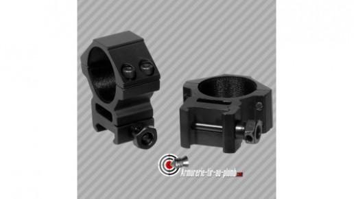 Colliers de montage bas UTG diametre 30mm pour rail de 21mm