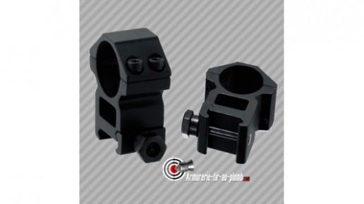 Colliers de montage Haut UTG diametre 30mm pour rail de 21mm