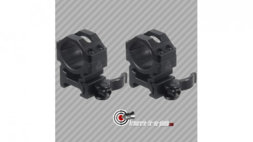 Colliers de montage bas UTG diametre 30mm pour rail de 21mm attache rapide