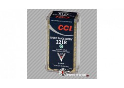 50 cartouches CCI 22LR Short range green HP - 21 grains plinking