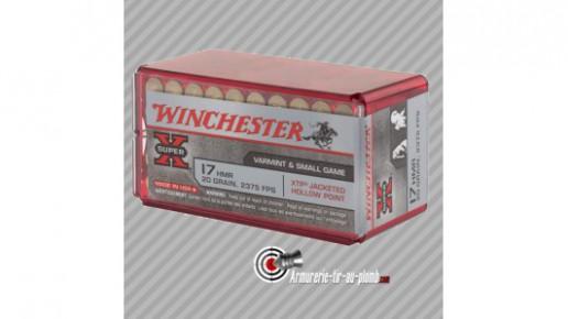 50 cartouches Winchester 17 HMR 17 grains varmint