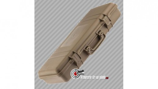 Mallette pour arme polycarbonate TAN - 86.5 cm