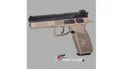 Pistolet à plombs CZ P-09 Noir-FDE au CO2 - 3.7 joules - cal 4.5mm