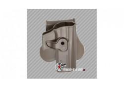 Holster ceinture rigide pistolet CZ P-07 et P-09 pour droitier finition FDE