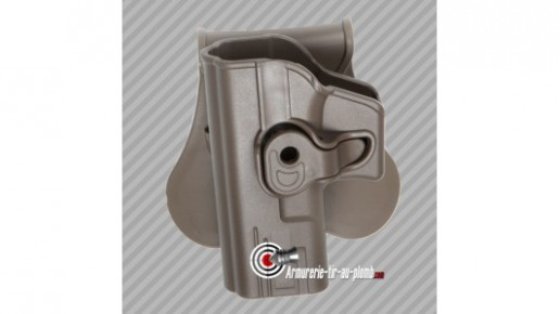 Holster ceinture rigide pistolet G series pour gaucher finition FDE