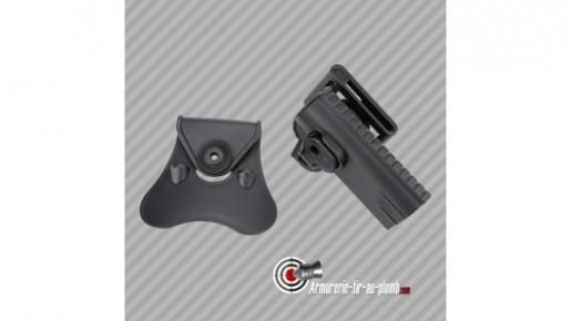 Holster ceinture rigide pistolet Colt 1911 Cytac en polymère