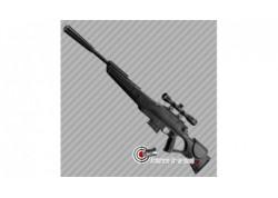 Fusil à plomb air pré comprimé Beeman Quiet Tek 20 joules avec lunette