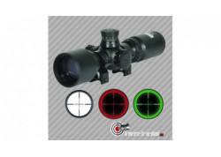 Lunette de tir Swiss arms 3-9x40 rouge et vert mildot colliers 11mm