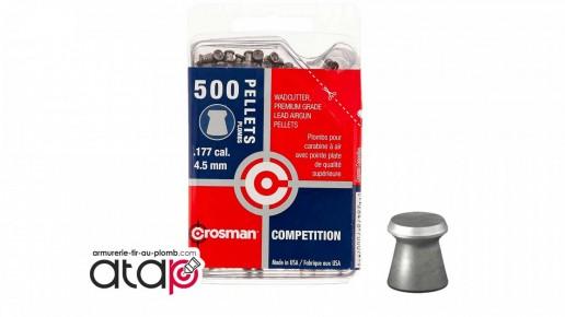 Plomb plat crosman wadcutter 4,5 mm