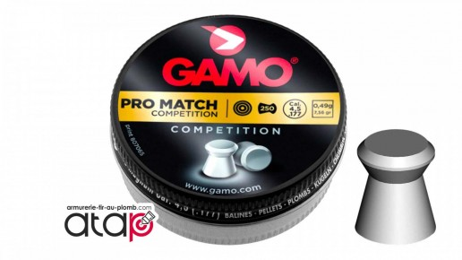 Plomb plat pour carabine à air comprimé Gamo Pro Match