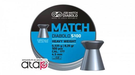 plomb plat pour compétition JSB Match Diabolo S100