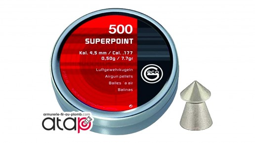Plomb pointu Geco superpoint 4,5 mm