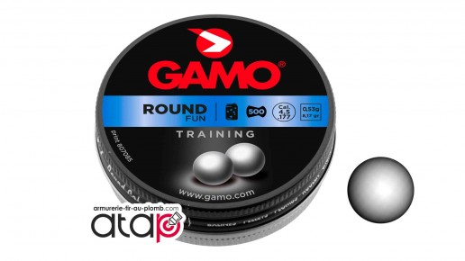 Bille de plomb Round Gamo calibre 4,5 mm