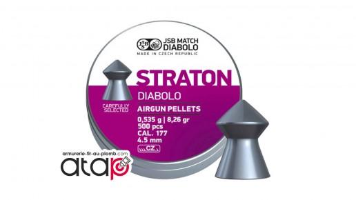 Straton Diabolo JSB Match Boîte De 500 Munitions Plomb 4,5 mm