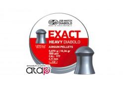 Plomb Exact Heavy Diabolo JSB Match Boîte De 500 Munitions Plomb 4,5 mm